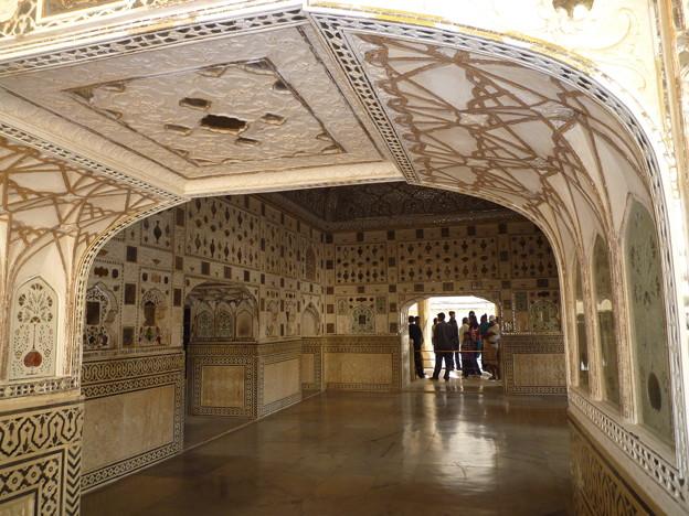 アンベール城のハイライト鏡の間 Mirrored ceiling in the Mirror Palace
