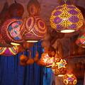 カラフル瓢箪ランプ Colorful gourd lamps