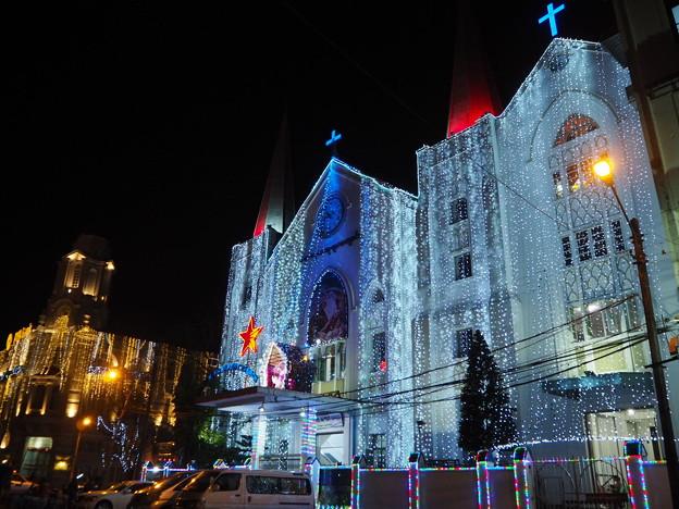 ヤンゴンのクリスマス Christmas illuminations in Yangon