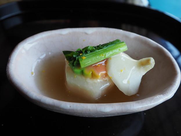 会席料理「収穫の喜び」温物 Japanese Cuisine at Sunainosa-to