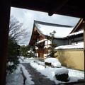 写真: 大徳寺興臨院  Snow covered Kōrin-in           *門松は冥土の旅の一里塚めでたくもありめでたくもなし