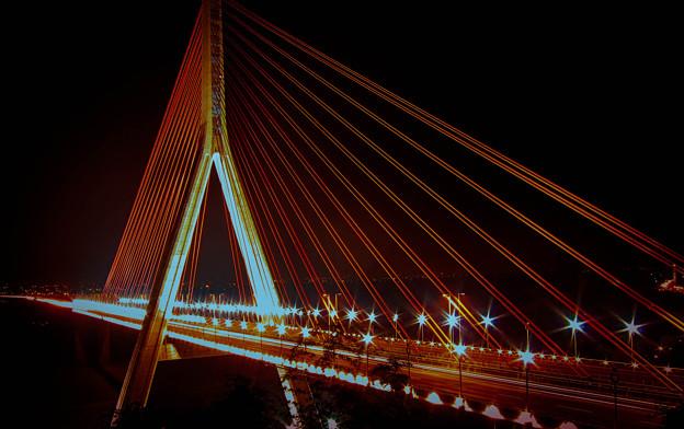 夜/斜張橋
