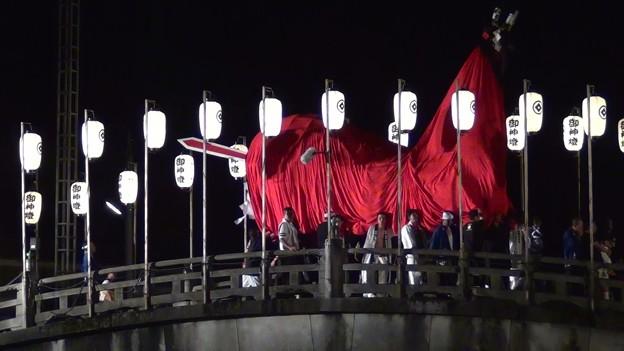 和霊大祭2015 走り込み10 太鼓橋の掛け合い1