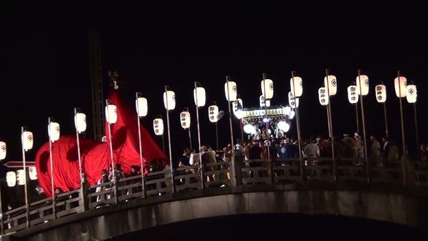 和霊大祭2015 走り込み12 太鼓橋の掛け合い3