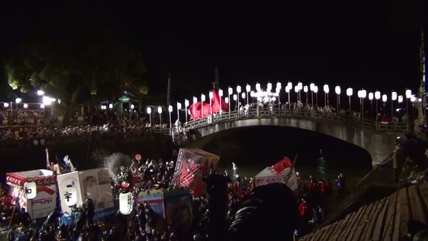 和霊大祭2015 走り込み13 太鼓橋の掛け合い4