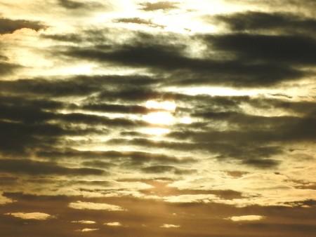 駿河湾の朝日34