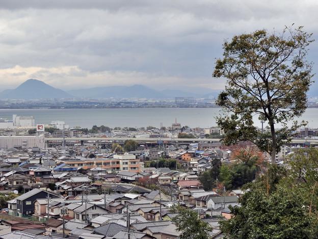 千体地蔵前からの眺め2 左に近江富士