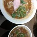 """写真: つけ麺一燈@ 新小岩。2 月7日迄の限定""""エビラー""""(\800) に今週のご飯も..."""
