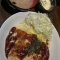"""写真: 男の大ごちそう@ 西新宿。""""オムライス""""(\600)( チーズはサービス) ガッ..."""