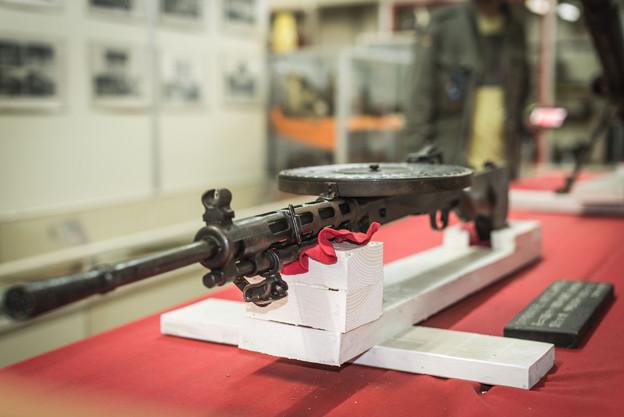 ドラム式の機関銃@那須戦争博物館