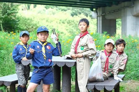 2014.09.13 追分市民の森 カブ・ボーイスカウト 清掃活動