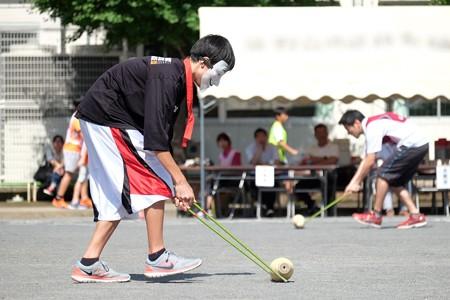 2015.10.03 小学校 町内対抗運動会 ボーリング転がし