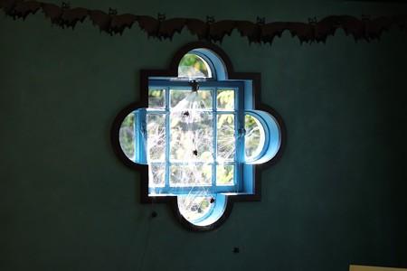 2015.10.25 ベーリック・ホール 窓 ハロウィン装飾