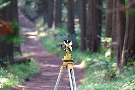 2015.11.07 追分市民の森 測量用 1素子プリズム