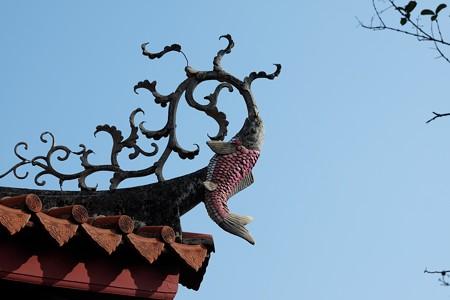 2015.11.09 台南 赤嵌楼 海神廟 屋根の鯉飾