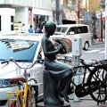 Photos: 2015.12.04 銀座 花椿通りの街路樹は椿 はな 少女像