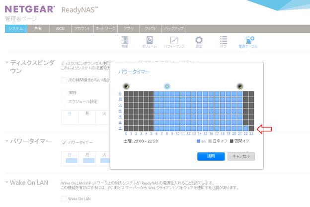 2015.12.13 PC ReadyNAS 102 パワータイマー