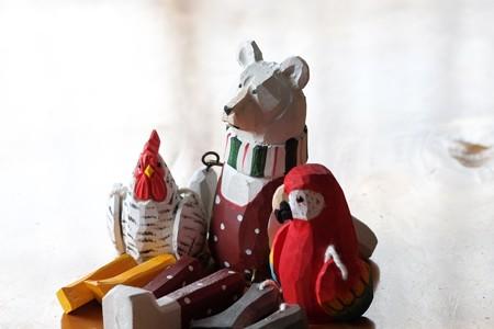 2016.01.22 みなとみらい salut! 白熊と鶏に鸚鵡