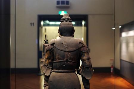 2016.02.17 東京国立博物館 木造毘沙門天立像 男の背中 平安時代 C-1869-1