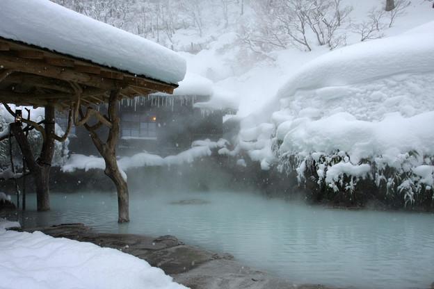 写真: 2010.01.17 鶴の湯 露天風呂-1