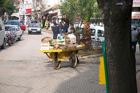 2011.01.22 トルコ ゲリボル 野菜三輪車