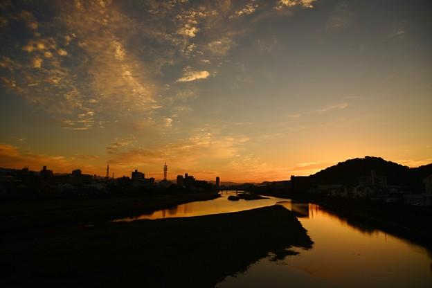 Photos: 鏡川朝景色