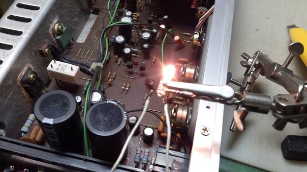 懐かしのステレオアンプTRIO KA-60の修理?