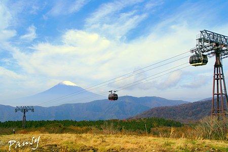 富士山のみえる風景・・