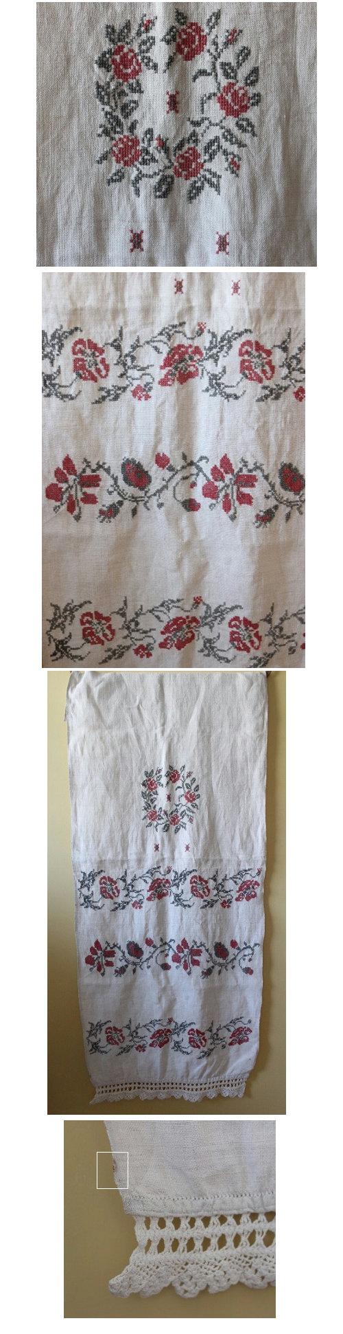 ウクライナバラ刺繍