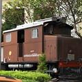 タイ国鉄ビルの玄関前の保存機関車