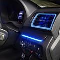 写真: レヴォーグ ブラックカーボンパネル間接照明 運転席側