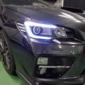 写真: WRX STI VAB ヘッドライト加工 NEWアウディ風LED取付 ホワイト