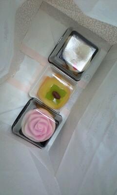 ねりきり!手前のバラは、体験で作らせて貰った(*´∀`)楽しかった!!