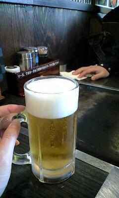 ぼんくら家で昼からビール