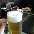 写真: ぼんくら家で昼からビール