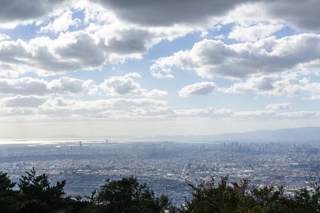 生駒山上から