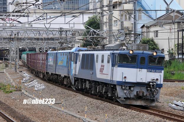 83レ EF641003[愛]+EH200-4[髙]+コキx4+タキx6