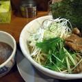 写真: 鶏塩つけめん・鳥唐揚げ@とり丸・長野市
