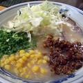 写真: みそとんこつ・太麺@助屋駅前店・長野市