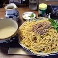 写真: 豚骨カレーつけ麺・大盛り@熊人・上田市