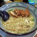 写真: 鶏塩鰹らーめん・唐揚げ@とり丸・長野市