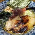 海老塩豚骨ラーメン・細麺@焼豚食堂・甲府市