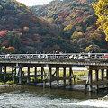 写真: 京都嵐山、渡月橋の秋景色!(091130)