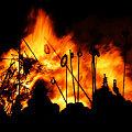 Photos: 左義長祭り、団子を焼く!2010