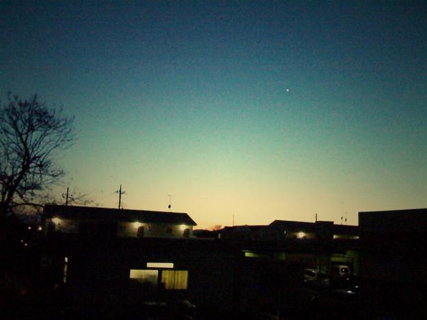 朝っぽい夕焼け