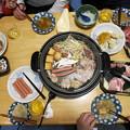 写真: 元日の夕食は焼き肉
