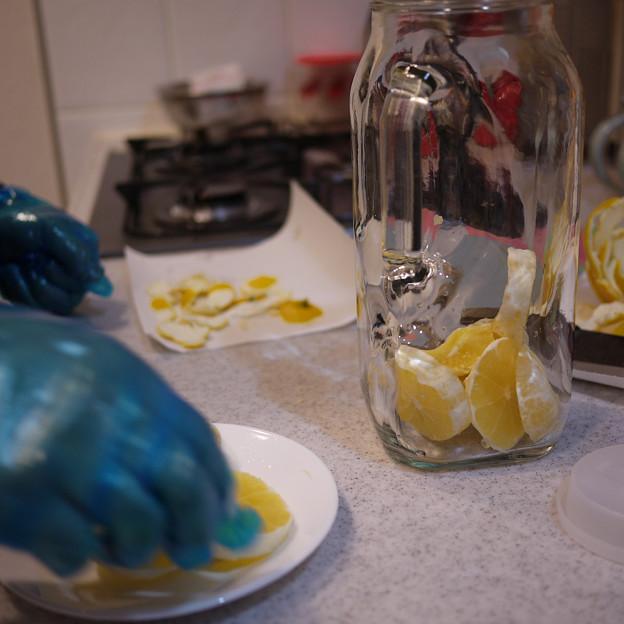 レモン酒作り2