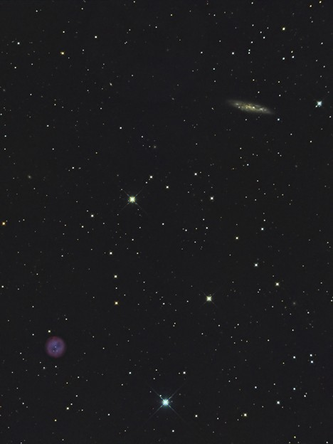 写真: ふくろう星雲とM108