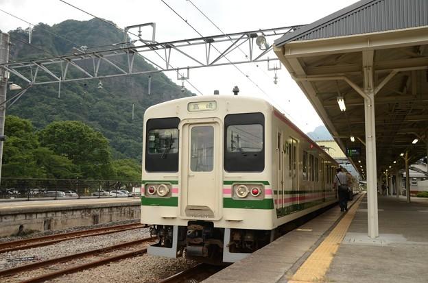 107系R14+R16編成横川駅到着 折返し154M高崎行き