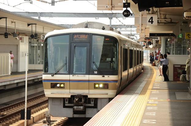 221系みやこ路快速2612M奈良4番発車
